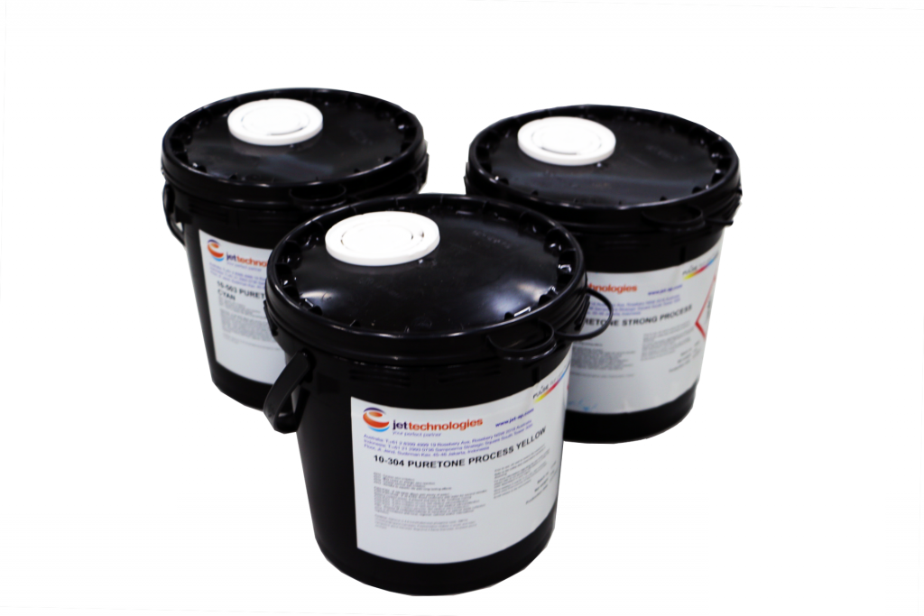 tubs of flexo printing inks